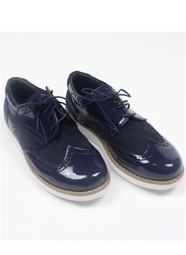 Chaton D'Or Erkek Çocuk Yüksek Tabanlı Rugan Ayakkabı Lacivert